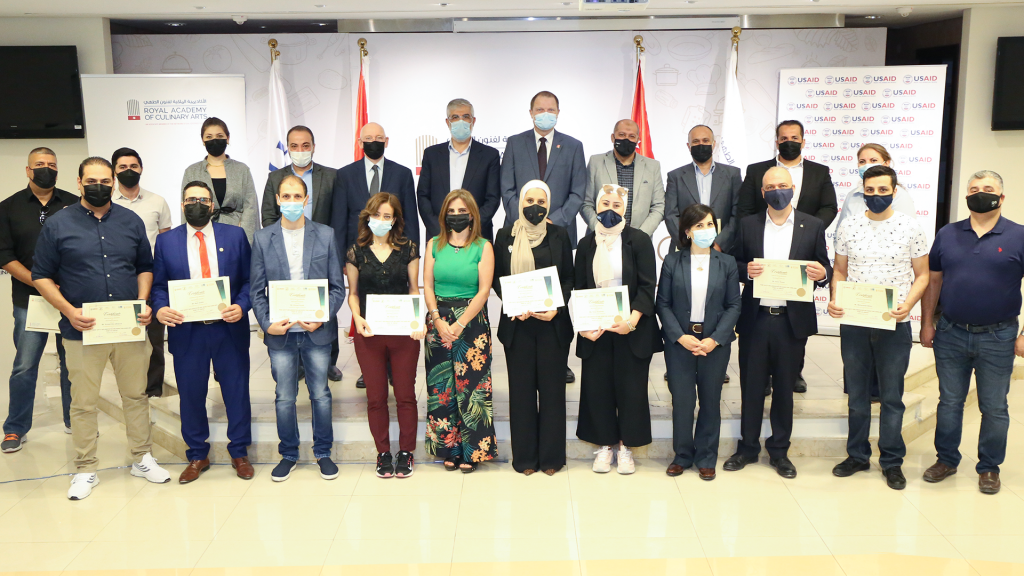 """Graduation ceremony on completing the """"Food Safety Implementation And Inspection Guidelines"""""""
